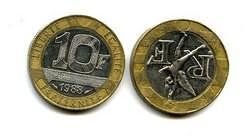 10 франков Франция (биметалл)