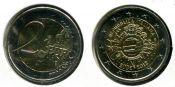 2 евро наличное обращение Италия 2012 год