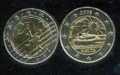 2 евро жетон Мальта 2008 год