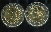 2 евро жетон Словения Римский договор 2007 год
