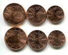 Набор монет евроцентов Литвы 2015 год