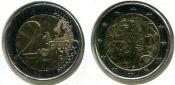 2 евро 150 лет финской валюте Финляндия 2010 год