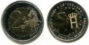 2 евро монограмма герцога Люксембург 2004 год