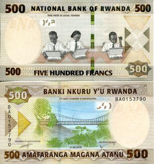500 франков Руанда 2019 год