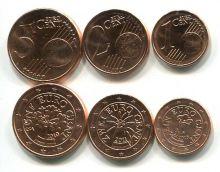 Набор евро Австрии 1-5 центов