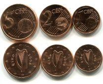 Набор евро монет Ирландии 1-5 центов