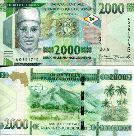 2000 франков Гвинея 2018 год