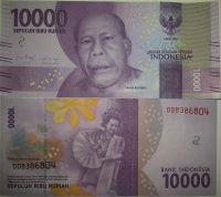 10000 рупий Индонезия 2016 год