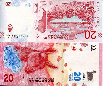 20 песо Аргентина 2017 год