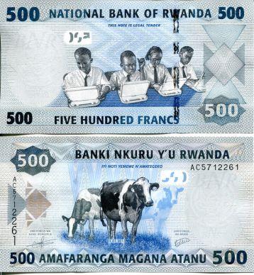 500 франков коровы Руанда 2013 год
