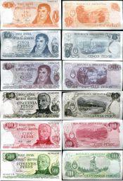 Набор банкнот Аргентины