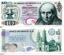 10 песо Мексика 1971 год