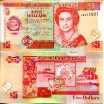 5 долларов Белиз 2016 год