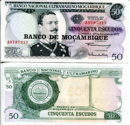 50 эскудо Мозамбик 1970 год