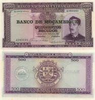 500 эскудо 1976 год на 500 эскудо 1967 Мозамбик
