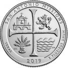 25 центов Миссии Сан-Антонио Техас 49 парк США 2019 год