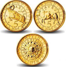 Набор монет Сан-Марино 5 евро знаки зодиака 2018 год