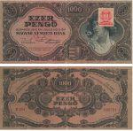 1000 пенгё с маркой Венгрия 1945 год