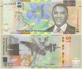 1 доллар Оркестр Багамские острова 2017 год