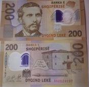 200 лек Наим Фрашери Албания 2019 год