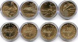 Набор монет Венгрии 200 форинтов сказки 2001 год