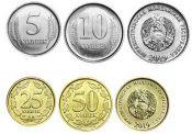 5, 10, 25, 50 копеек набор монет Приднестровье 2019 год