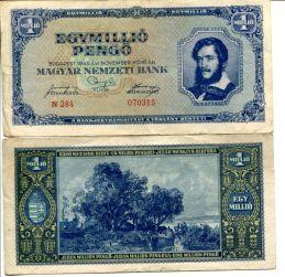 1000000 пенго Венгрия 1945 год