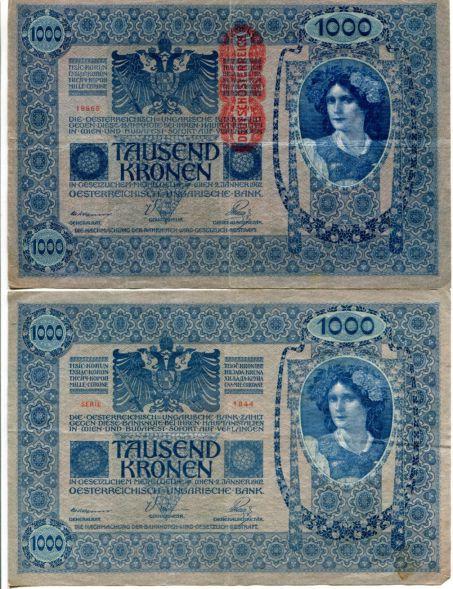 1000 крон Австрия 1902 год