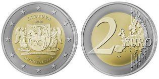 2 евро Аукштайтия Литва 2020 год