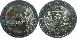 2 евро Дзукия Литва 2021 год