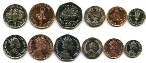 Набор монет Гибралтара 2004 год