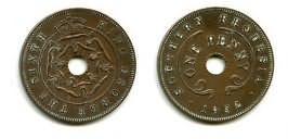 1 пенни 1952 год Южная Родезия