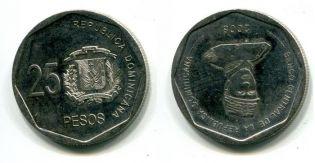 25 песо 2008 год Доминиканская республика