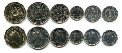 Набор монет Белиза