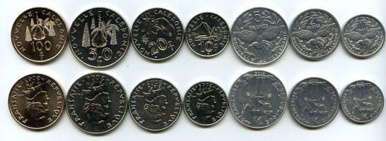 Набор монет Новой Каледонии
