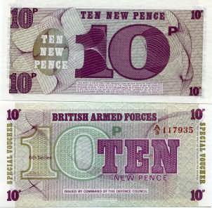 10 новых пенсов Великобритания