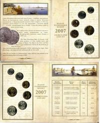 Набор монет России  регулярного чекана 2007 год с жетоном (СПМД)