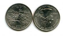 25 центов (квотер) 2002 год (Миссисипи) США