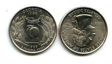 25 центов (квотер) 1999 год (Джорджия) США
