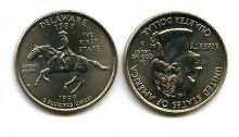 25 центов (квотер) 1999 год (Делавэр) США
