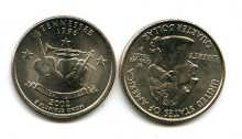 25 центов (квотер) 2002 год (Теннесси) США
