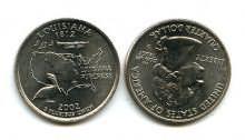 25 центов (квотер) 2002 год (Луизиана) США