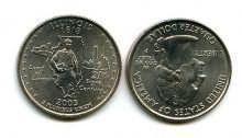 25 центов (квотер) 2003 год (Иллинойс) США