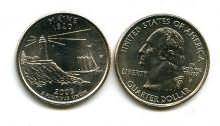 25 центов (квотер) 2003 год (Мэн) США
