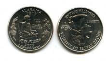 25 центов (квотер) 2003 год (Алабама) США