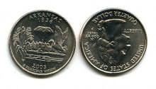 25 центов (квотер) 2003 год (Арканзас) США