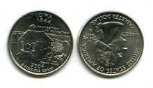 25 центов (квотер) 2004 год (Айова) США