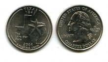 25 центов (квотер) 2004 год (Техас) США