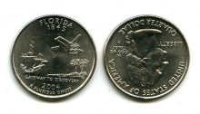 25 центов (квотер) 2004 год (Флорида) США