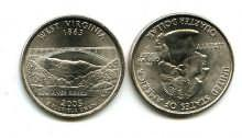 25 центов (квотер) 2005 год (Вирджиния) США